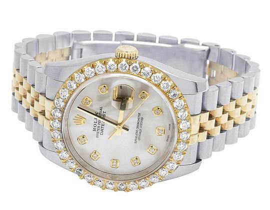 Rolex Mens Ladies 18K/ Steel Datejust 36MM 116233 MOP Dial Diamond 4.2 Ct Image 5
