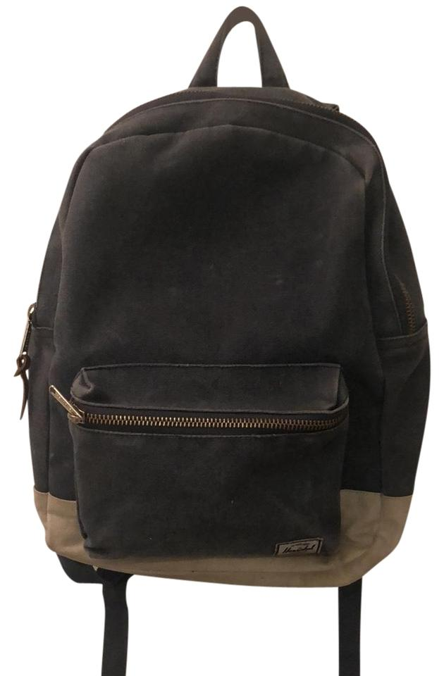 89b0e7fead Herschel Supply Co. Ca 55688 Blue   Tan Cotton Canvas Backpack - Tradesy