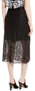 Lewit Lace Sheer Skirt Black
