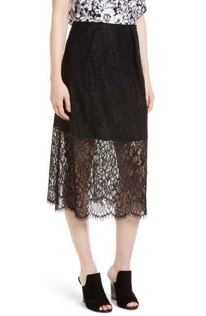 Lewit Lace Sheer Skirt Black Image 1