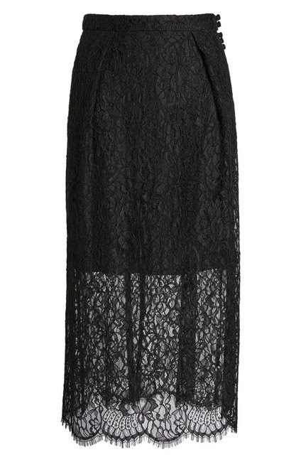 Lewit Lace Sheer Skirt Black Image 11
