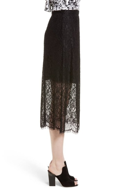 Lewit Lace Sheer Skirt Black Image 2