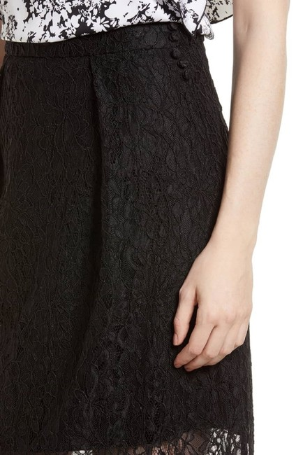 Lewit Lace Sheer Skirt Black Image 3