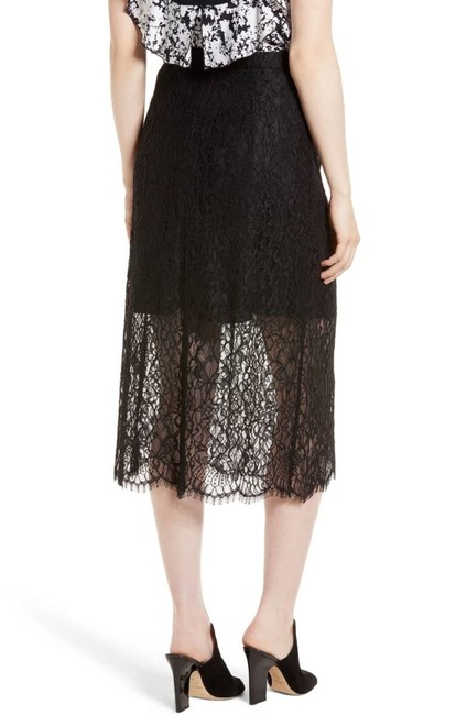 Lewit Lace Sheer Skirt Black Image 6