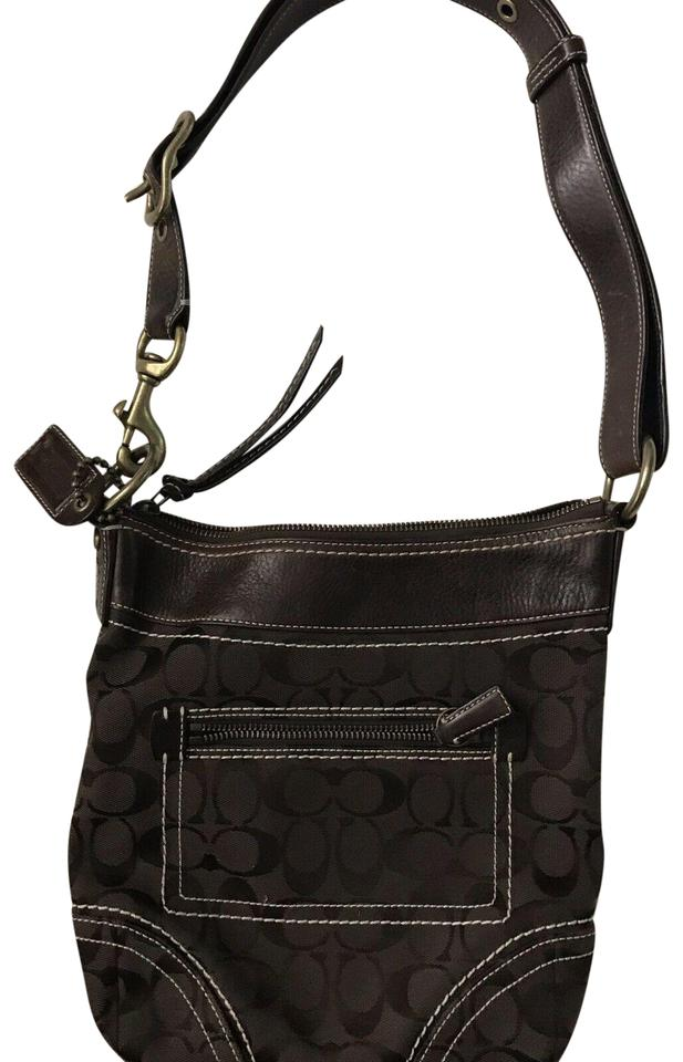 139085006c3 Coach Bucket Jacquard Brown Fabric Shoulder Bag - Tradesy