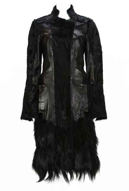 Item - Black Tom Ford For Leather Coat Size 6 (S)