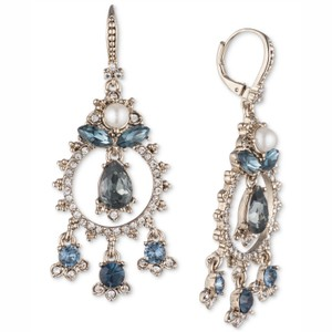 Marchesa marchesa blue crystal drop earrings