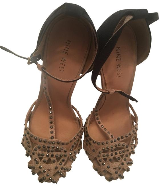 Item - Black and Tan Gatsby Embellished Heels Formal Shoes Size US 5.5 Narrow (Aa, N)