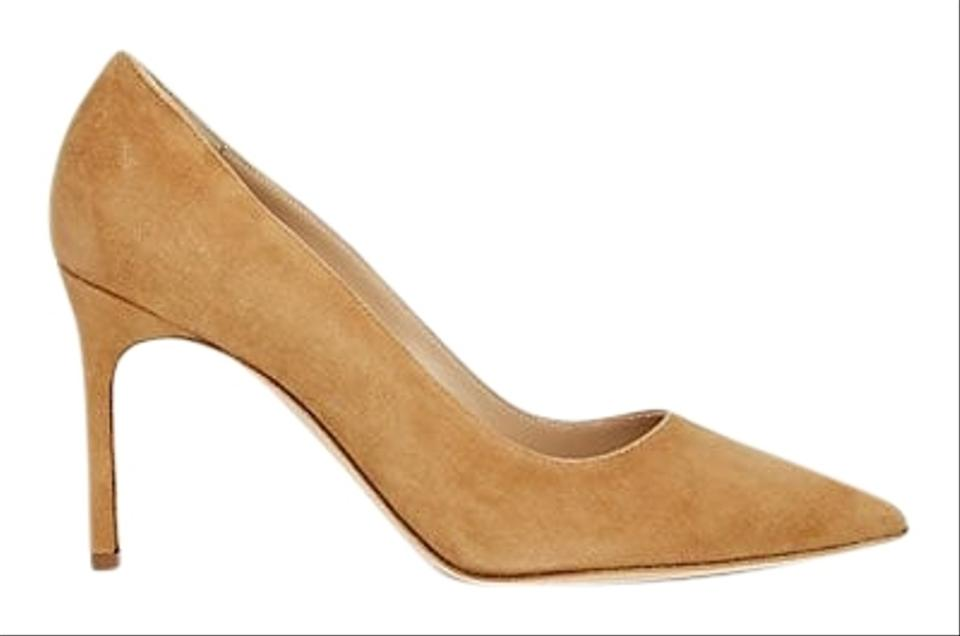 00c80144aecac Manolo Blahnik Bb 90 Suede Point In Classic Camel Pumps. Size: EU 37.5  (Approx. US 7.5) Regular ...