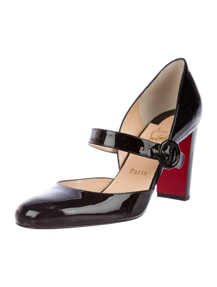buy popular 3269a 22e41 Christian Louboutin Black New Patent Leather Mary Jane 8 Pumps Size EU 38  (Approx. US 8) Regular (M, B)