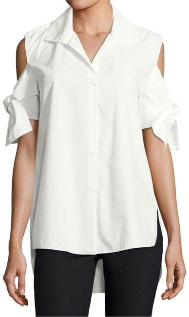 Item - White Tie Sleeve Button Down Tunic Size 10 (M)