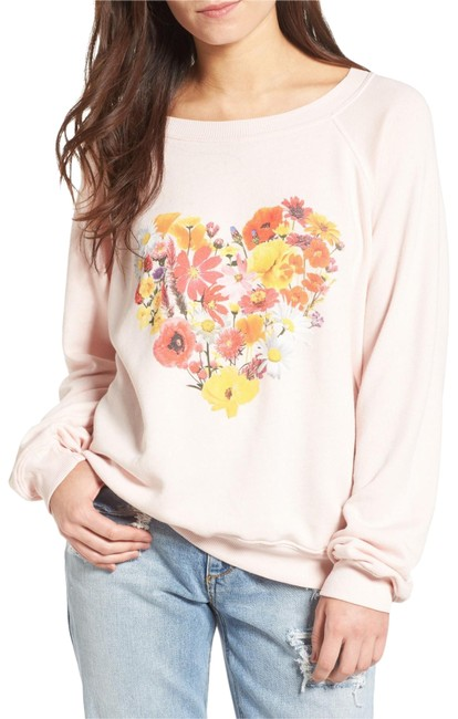 Item - Blooming Heart Pink Sweater