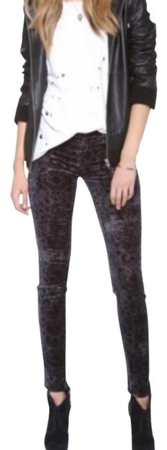Item - Black Purple Mirage Skinny Jeans Size 8 (M, 29, 30)