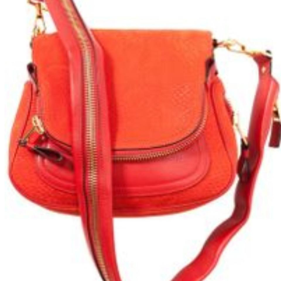 2952ac52d9 Tom Ford Jennifer Mini Flaming Red Orange Cross Body Bag - Tradesy