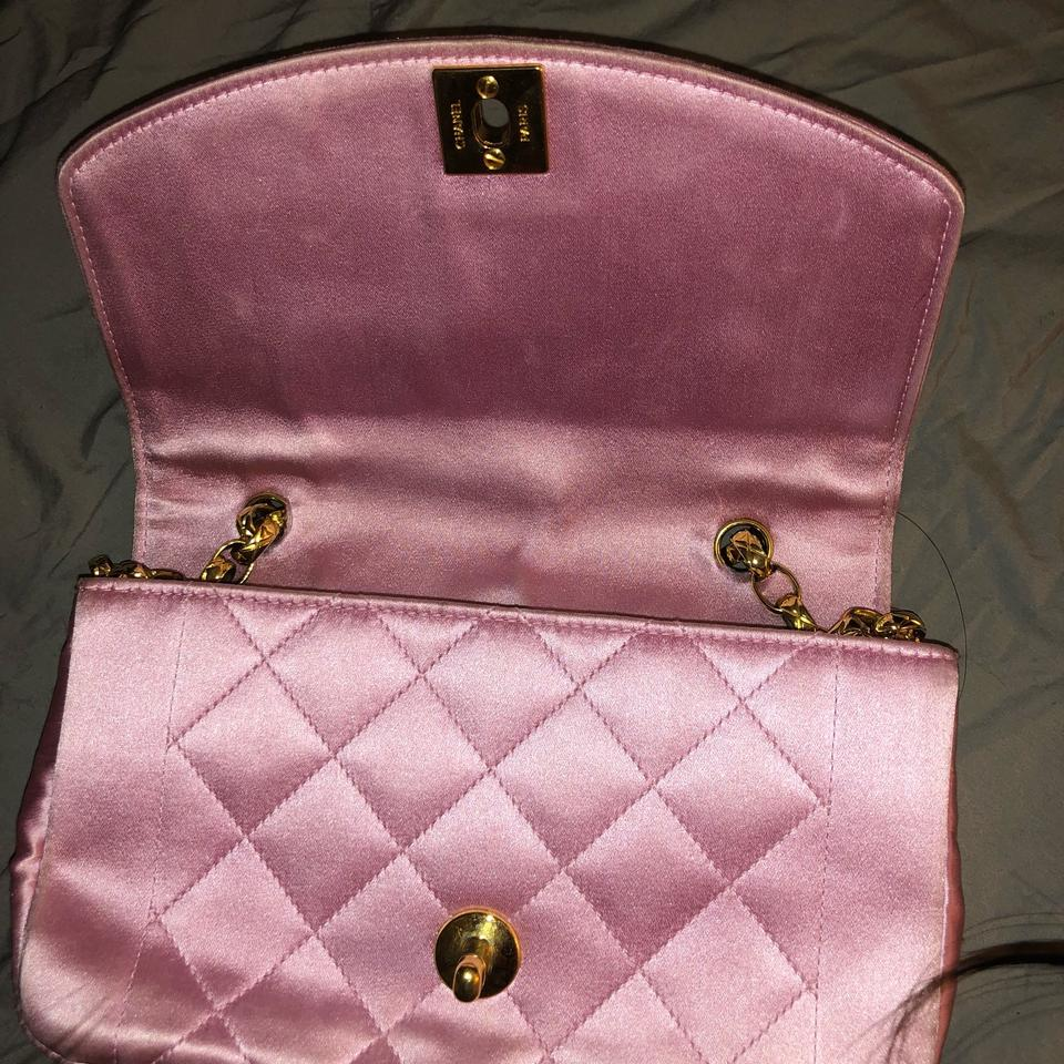 c75ee3e47baa5f Chanel Evening Vintage Quilted Pink Satin Cross Body Bag - Tradesy