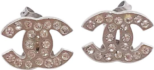 Preload https://img-static.tradesy.com/item/24841329/chanel-silver-classic-cc-crystal-small-piercing-earrings-0-1-540-540.jpg