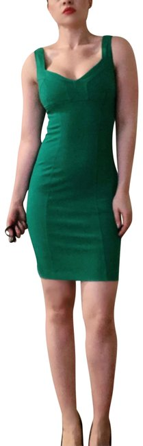 Diane von Furstenberg Green Heron Fitted Stretch Bodycon Sheath Mid-length Night Out Dress Size 4 (S) Diane von Furstenberg Green Heron Fitted Stretch Bodycon Sheath Mid-length Night Out Dress Size 4 (S) Image 1