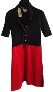 Gucci short dress navy and red with metallic green details on Tradesy