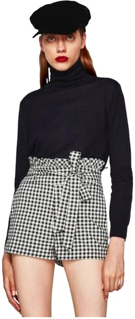 Item - Black White Gingham High Waisted & Plaid Shorts Size 2 (XS, 26)