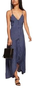 blue striped Maxi Dress by Reformation