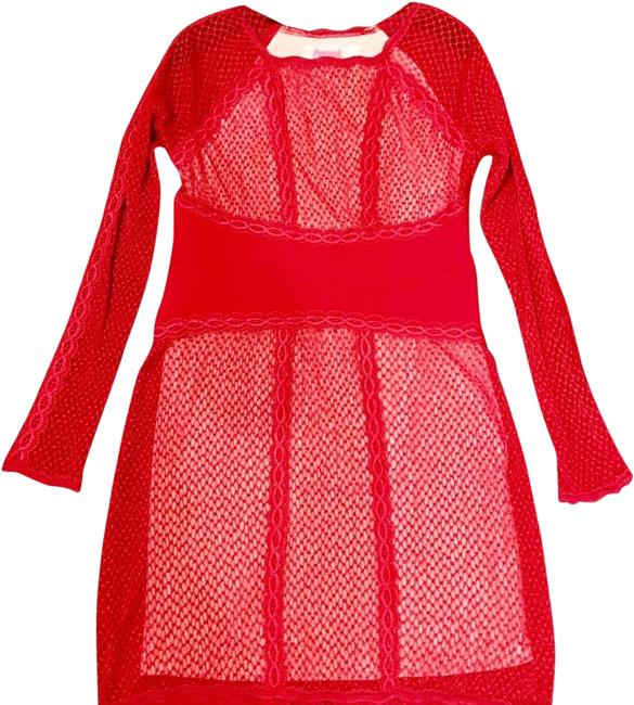 Item - Red. and White. Valentine's Mid-length Formal Dress Size 12 (L)