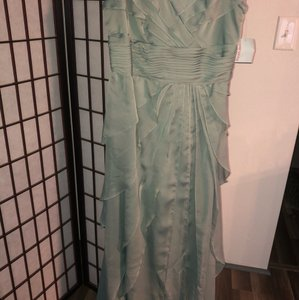 David's Bridal Sage See Picture Of Label Provided Fluted Gown Formal Bridesmaid/Mob Dress Size 14 (L)