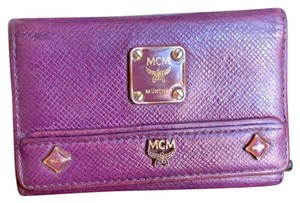 MCM MCM Small Purple Leather Key-chain Wallet