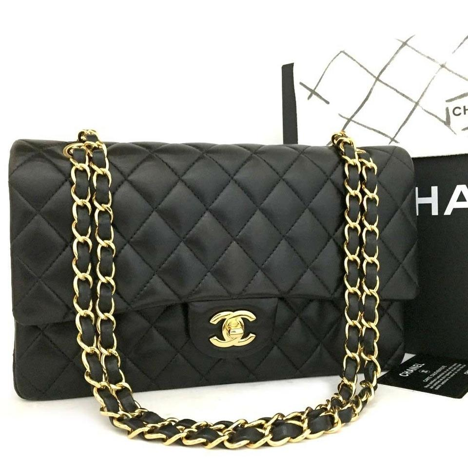 90dee78220c7 Chanel Classic Double Flap New 2017 25 Quilted Cc Logo Lambskin ...