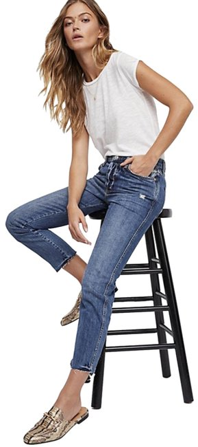Item - Steel Blue Distressed Slim Boyfriend Jeans/We The Skinny Jeans Size 25 (2, XS)