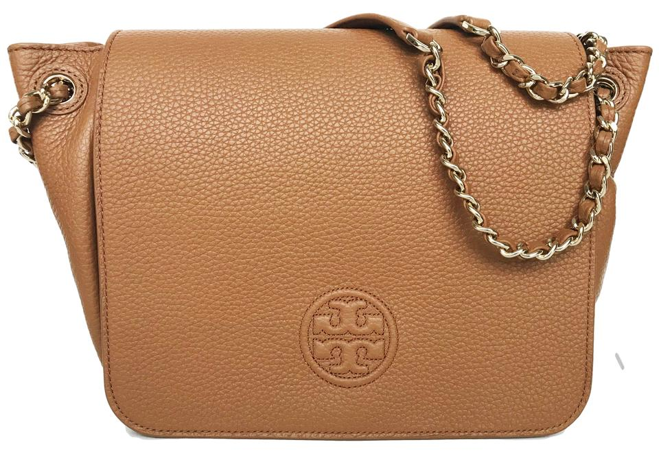 4c18078d480c Tory Burch Bombe Small Flap Shoulder Bark Leather Tote - Tradesy