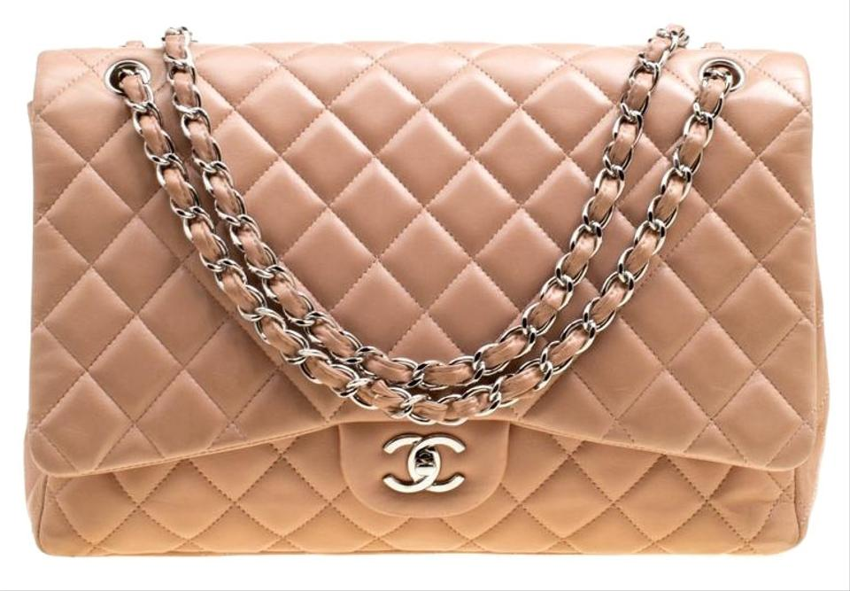5c207db179f2 Chanel Classic Flap Dusty Quilted Maxi Classic Single Pink Leather Shoulder  Bag