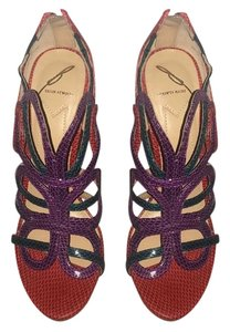 Brian Atwood Purple, red, green Pumps