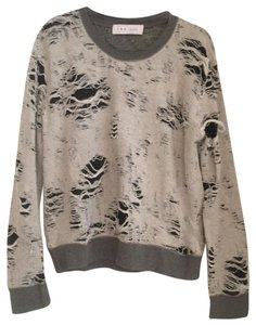 fb12d418b5263 IRO Gray with Black Lining Jeans Cenix Distressed Sweatshirt Hoodie. Size   12 (L) ...