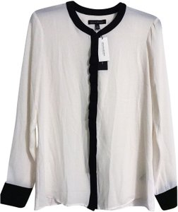 Banana Republic Button Down Shirt black & white