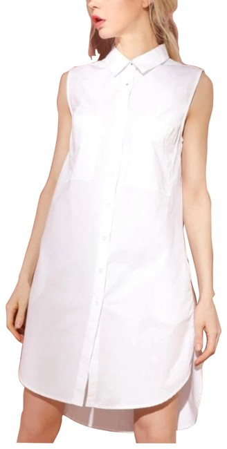 Item - White Button Down Short Casual Dress Size 6 (S)