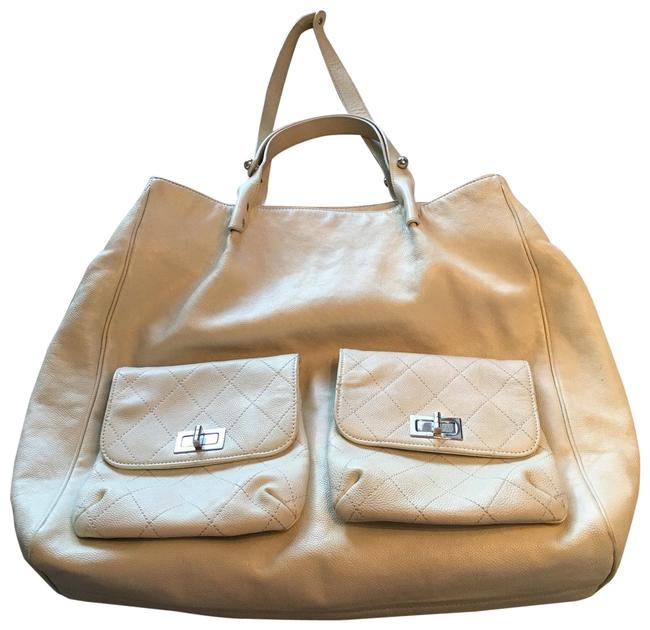 Item - Shopping 2.55 Reissue Jumbo In The City Ivory Leather Tote
