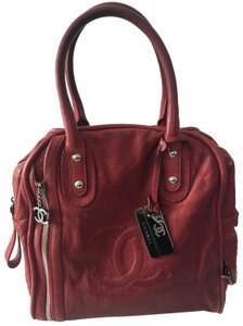 Chanel Bowling Leather Tote in Burgundy
