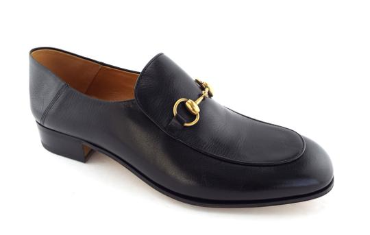 Gucci Black Horsebit Leather Logo Controvertible Slip-on Loafers/Mules 12us/11uk Shoes Image 1