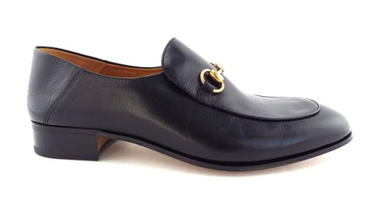 Gucci Black Horsebit Leather Logo Controvertible Slip-on Loafers/Mules 12us/11uk Shoes Image 2