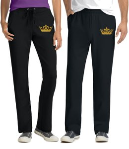 Black For Couples Pants His and Hers Matching Couples Pants Other