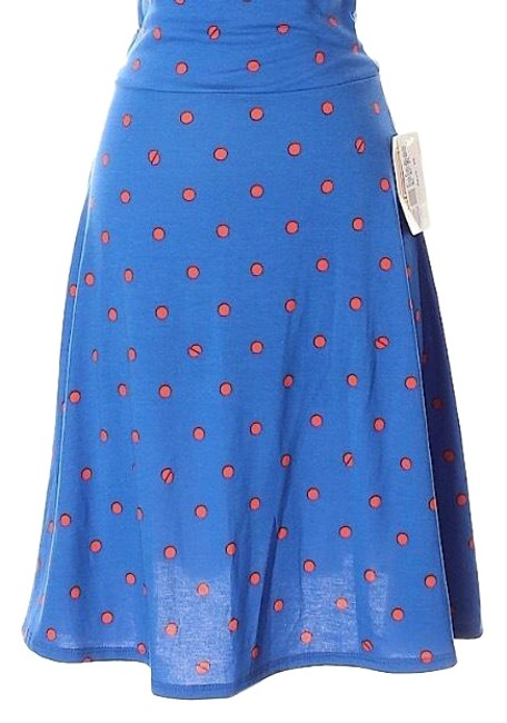 Item - Blue W/Red Polka Dots Azure Skirt Size 6 (S, 28)