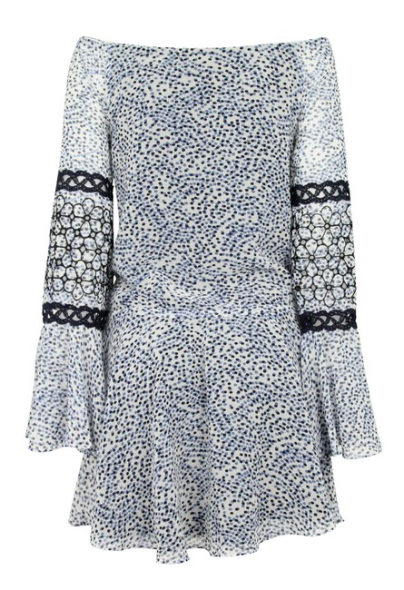 Alexis short dress Blue Mini Off The Shoulder on Tradesy Image 2