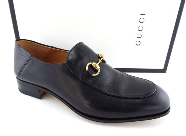 gucci black loafers mens