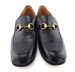 Gucci Black Horsebit Leather Logo Controvertible Slip-on Loafers/Mules 8.5us/7.5uk Shoes
