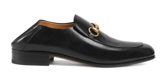 Gucci Black Horsebit Leather Logo Controvertible Slip-on Loafers/Mules 8.5us/7.5uk Shoes Image 3