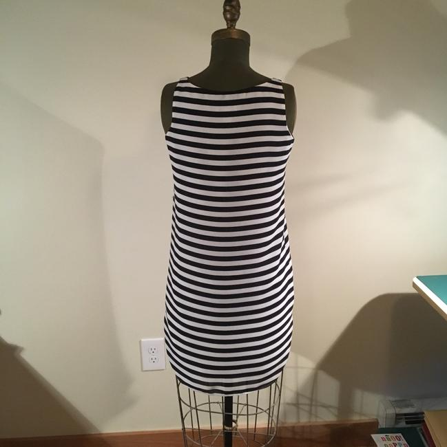 Loft short dress black and white striped on Tradesy Image 1