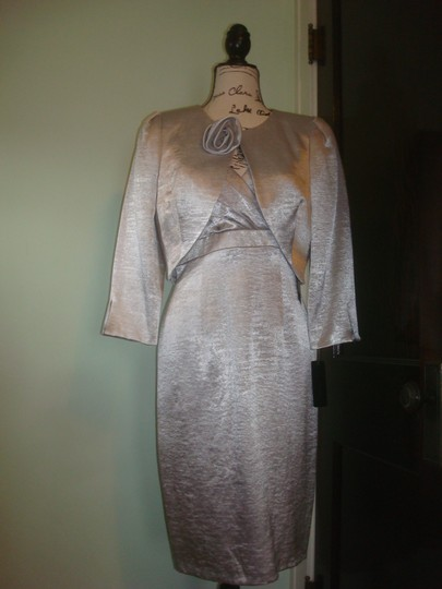 Silver C3215 Traditional Bridesmaid/Mob Dress Size 6 (S) Image 11