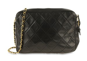 Chanel Camera Case Lambskin Quilted Shoulder Bag