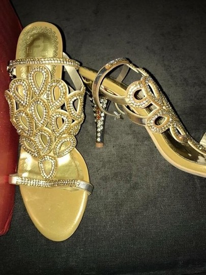 Japanese Gold with Jeweled Heels Formal Image 1
