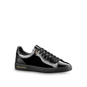 Louis Vuitton Sneakers Front Row Sneakers Patent Leather Black Athletic
